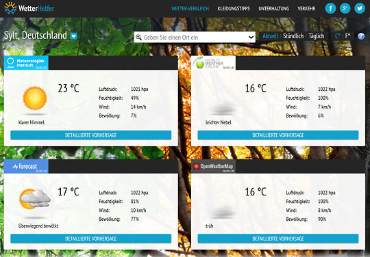 WetterHelfer-Screenshot